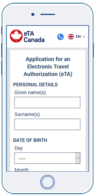 Canada eta application