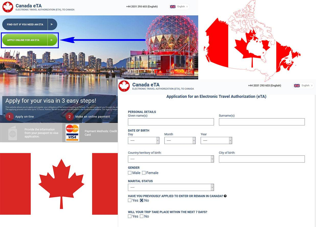 How to apply for Canadian visitor visa eTA – Step by Step Guide